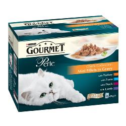 Gourmet Perle Pouch Multipack 12x85g Chefs Collection (Turkey, Tuna, Duck Lamb)