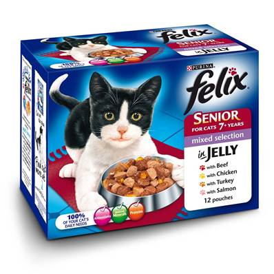 Felix Pouches Senior 12pk Mixed Selection In Jelly