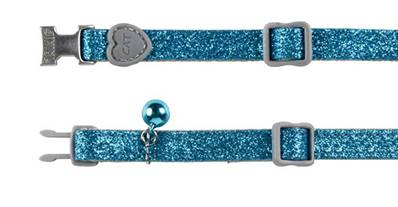 Trixie Glitter Cat Collar With Heart Elastic Nylon