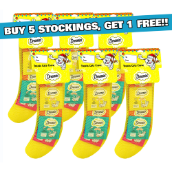 Dreamies Christmas Cat Stockings - Buy 5, Get 1 Free - 150g Dreamies per Stocking!
