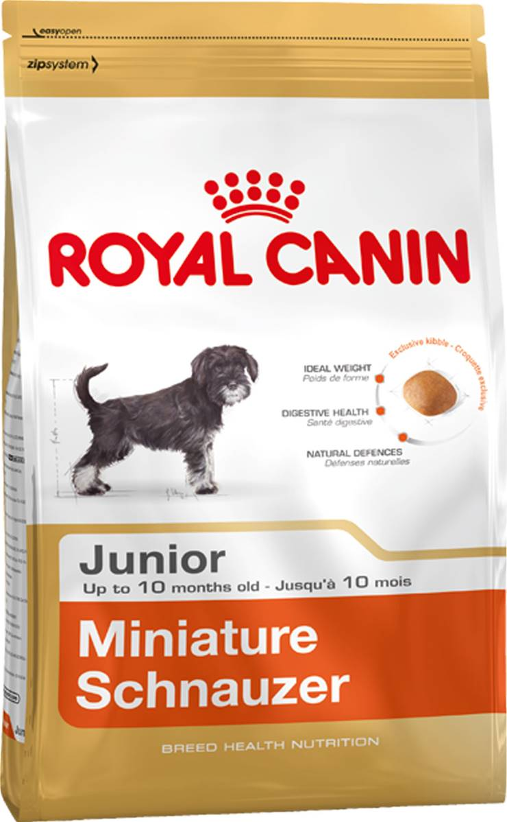 royal canin dry dog food breed nutrition miniature schnauzer junior. Black Bedroom Furniture Sets. Home Design Ideas
