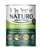 Naturo Grain & Gluten Free Wet Dog Food Tin - Duck and Blueberry 390g