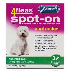 Johnson's 4Fleas Dual Action Flea & Lice Spot On For Dogs