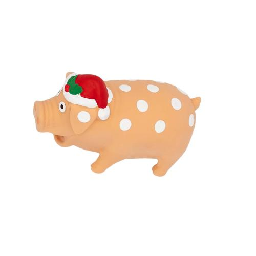 Goodboy Festive Piggy Christmas Dog Toy 19cm