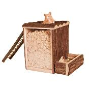Trixie Natural Living Wooden Playing And Digging Tower 25x24x20cm