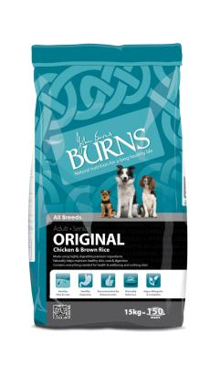 DOGS IN DISTRESS DONATION - Burns Original Dog Food With Chicken & Rice 2kg