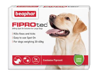 Beaphar Fiprotec Spot On Flea Removal and Prevention for Large Dogs (20 - 40kg) - 1 Treatment
