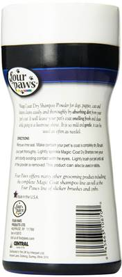 Four Paws Magic Coat Dry Shampoo Powder, For Dogs And Cats 198g