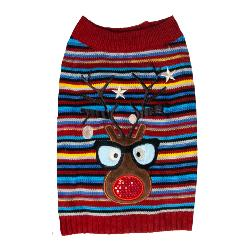 Dog's Life Flashing Reindeer Christmas Jumper