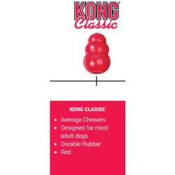 KONG Classic Rubber Dog Chew Toy