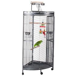 Liberta Discovery Corner Parrot Cage Antique