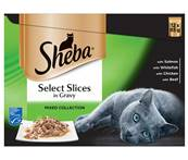 Sheba Pouch Multipack 12x85g Select Slices / Mixed Collection in Gravy
