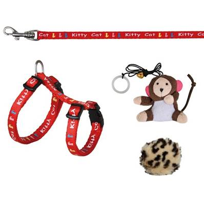 Trixie Kitten Harness With Lead And 2 Toys, 21-33cm/8mm, 1.20m