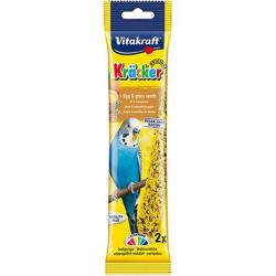 Vitakraft Kracker Budgie Treat Sticks (2 Pack) - Egg & Grass Seed