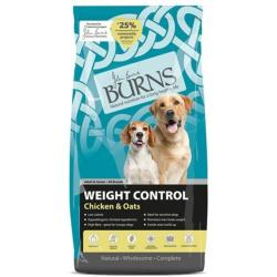 Burns Weight Control Dog Food - Chicken & Oats