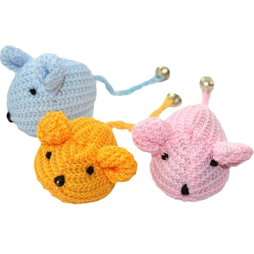Happy Pet Knitted Mice Cat Toy
