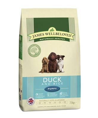 James Wellbeloved Gluten Free Dog Food for Puppy - Duck and Rice 2kg