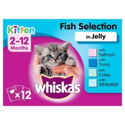 CLAWS Donation - Whiskas Kitten Fish Selection In Jelly