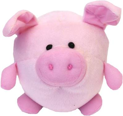 Rosewood Mini Piglet Ball Dog Toy