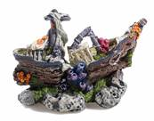 Classic Medium Galleon Aquarium Ornament 9""