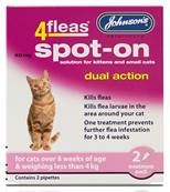 Johnson's 4Fleas Dual Action Spot On For Cats & Kittens For Cats Less Than 4kg