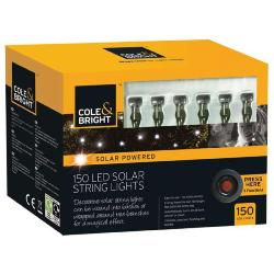 Gardman 150 Solar LED String Lights