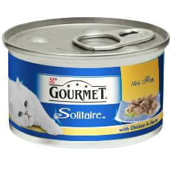 Gourmet Solitaire Cans 85g Slow Cooked Chicken in Sauce Singles