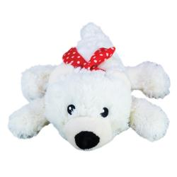 KONG  Holiday Christmas Cozie Polar Bear Dog Toy - Medium