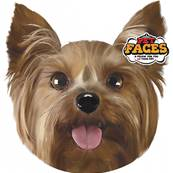 Rosewood Dog Pet Face Cushion Yorkshire Terrier