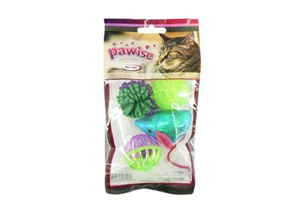 Pawise 4pk Assorted Cat Toys