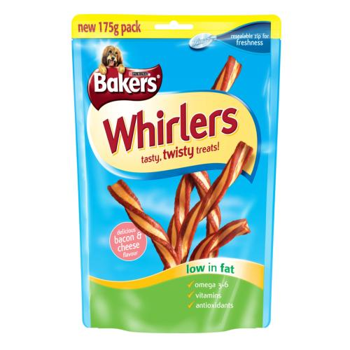 Bakers Whirlers (Bacon & Cheese - 175g)