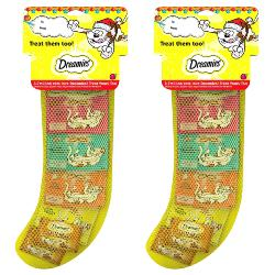 Dreamies Christmas Stocking Cat Treats Pack Of 2