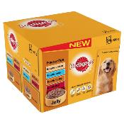DOTS BOURNEMOUTH DONATION - Pedigree Pouches (Adult) - Favourites in Jelly (24 X 100g)
