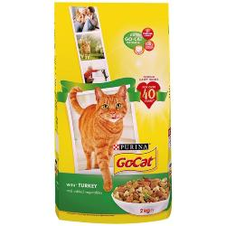 Go Cat Complete Dry Food Adult with Turkey & added Vegetables 2kg
