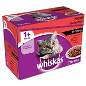 Whiskas Multipack 12x100g Meat Selection In Gravy