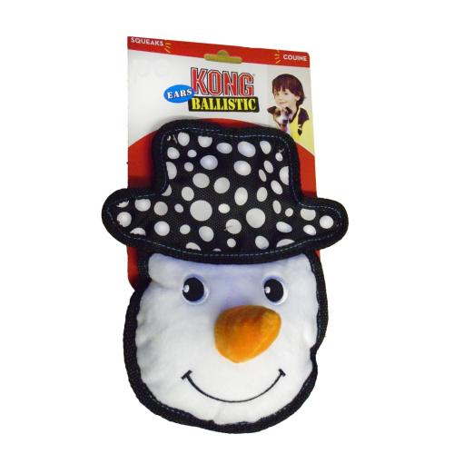KONG Ballistic Ears Snowman Medium Dog Toy