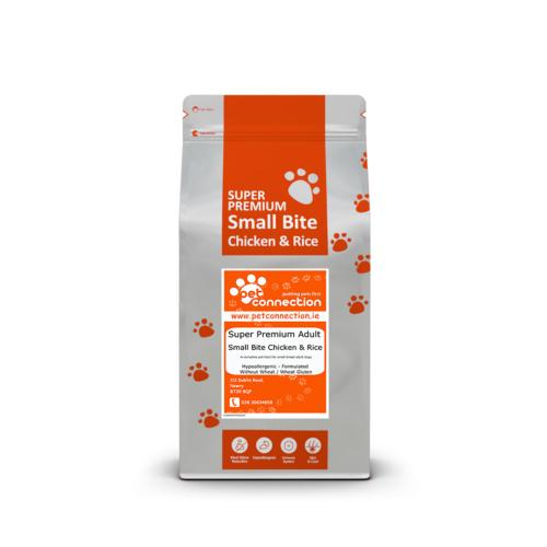 Pet Connection Super Premium Hypoallergenic Small Bite Dog Food (Adult) - Chicken and Rice 12kg