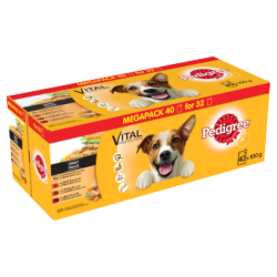 Pedigree Dog Pouches Mixed Selection In Gravy 40 For 36 X 100g