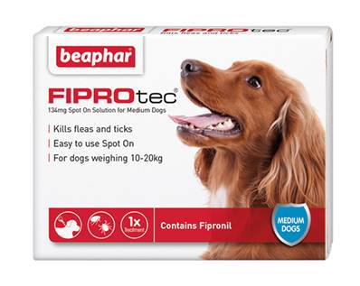 Beaphar Fiprotec Spot On Flea Removal and Prevention for Medium Dogs (10 - 20kg) - 1 Treatment