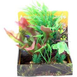 Cheeko Aqua Dreamscapes Aquatic Plant - Green & Red Foliage Spread 15cm