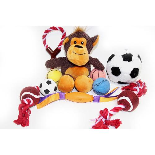 DOTS TAUNTON DONATION - Pack Of 9 Toys For Dogs Balls Rope Plush And Rubber