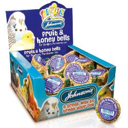 Johnson's Honey Enriched Budgie Treat - Fruit & Honey Bell