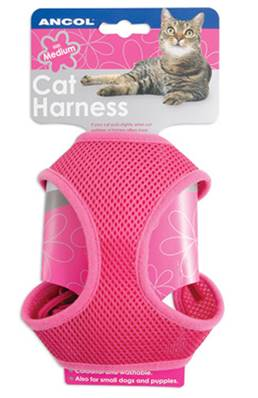 Ancol Cat Harness & Lead Set Small / Pink
