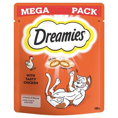 Dreamies Cat Treats Mega Pack - Chicken 200g