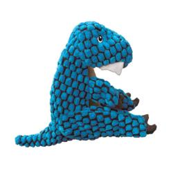 KONG Dynos Plush Blue T-Rex Dog Toy