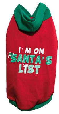 Rosewood Christmas Hoody Santa's List For Dogs Large 42cm