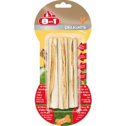 8 In 1 Delights Original Chicken Wrapped Rawhide Chew Sticks