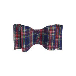 Rosewood Festive Blue Tartan Dog Bow - Large