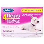 Johnsons 4Fleas Flea Removal Tablets for Small Dogs and Puppies (1 - 11kg) - 6 Treatments