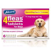 Johnsons 4Fleas Flea Removal Tablets for Large Dogs (11kg +) - 6 Treatments